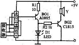 图6 红外线遥控接收器和红外线遥控发射器的检测电路