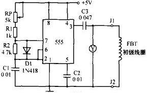 图7 行输出变压器检测电路