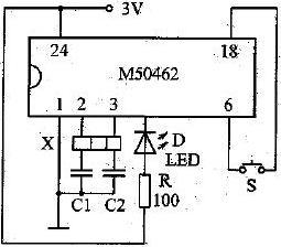 图4 陶瓷振子检测电路