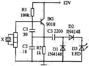 图5 石英晶振检测电路