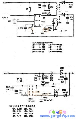 THX208贴片集成电路的代换方法
