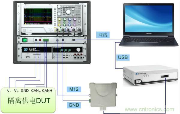 CAN一致性测试隔离和非隔离供电的电路区别