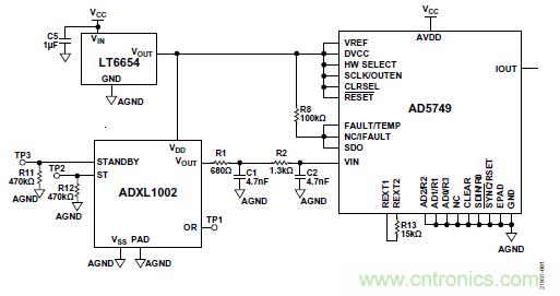 10kHz MEMS加速度计,提供4mA至20mA输出,适合状态监控应用